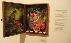 "My poem ""Hunger"" with Elizabeth D'Amico's artwork"